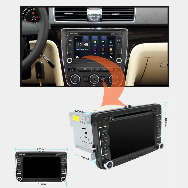 eunavi 7 39 39 2 din car dvd player radio gps navigation for. Black Bedroom Furniture Sets. Home Design Ideas