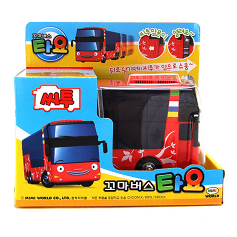 New The Little Bus Tayo Cito Model Mini Plastic Oyuncak Car Kids Miniature Double Decker Tayo School Bus Baby Toy Christmas Gift