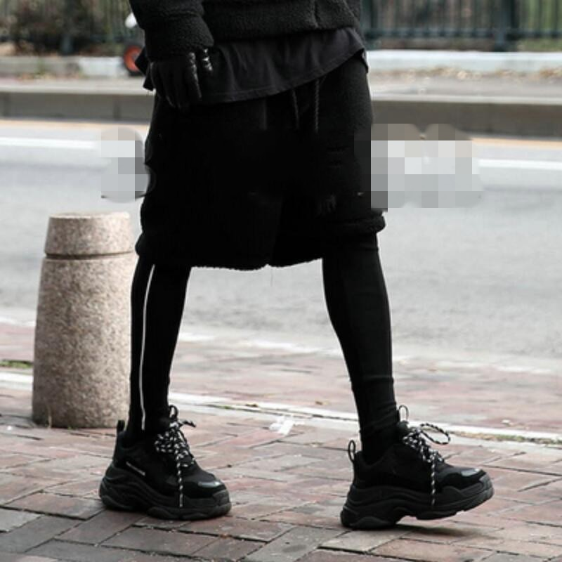 2018 Tamaño De Nuevo Gd Hombres Trajes Negro Más Pantalones Estilista Ropa Los black Lápiz Cónicos Calle Moda Elástico BwqqF