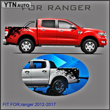 mudslinger ranger wildtrack body rear tail side graphic vinyl for Ford 2012 -2017sticker