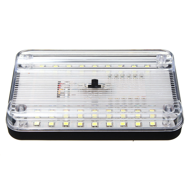 Universal 12V 36 LED Car Truck Auto Van Vehicle Ceiling Dome Indoor Roof Interior Light Lamp White Car Styling 37 led 6500k car ceiling dome white light 12v