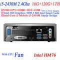 Do linux com Intel Core i5 2430 M 2.4 Ghz mini pc windows