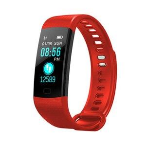 Image 5 - Bluetooth inteligentny bransoletka kolorowy ekran Y5 inteligentna opaska monitor tętna pomiar ciśnienia krwi inteligentny zegarek fitness Smart watch mężczyźni