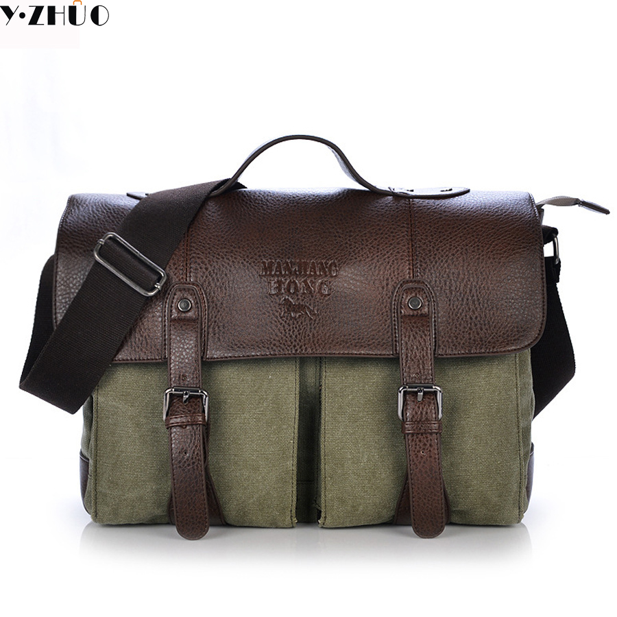 leather+canvas man handbags tote business men messenger bags shoulder crossbody Laptop bag bolsa feminina briefcase vintage crossbody bag military canvas shoulder bags men messenger bag men casual handbag tote business briefcase for computer