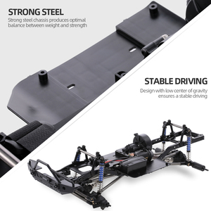 Image 3 - AUSTAR 313mm Wheelbase Chassis Frame With 540 35T Brushed Motor for 1/10 AXIAL SCX10 II 90046 90047 RC Crawler Climbing Car DIY
