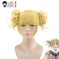 HSIU NEW High Quality Himiko Toga Cosplay Wig My Hero Academy Costume Play Wigs Halloween Costumes