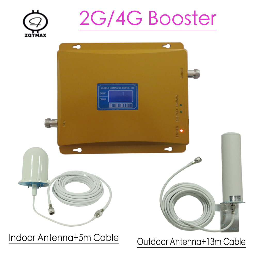 Dual 850 1800 GSM Dual Band Mobile Signal Repeater GSM 850 +1800mhz Band 3 65dB Gain Cellphone Amplifier Booster For Home