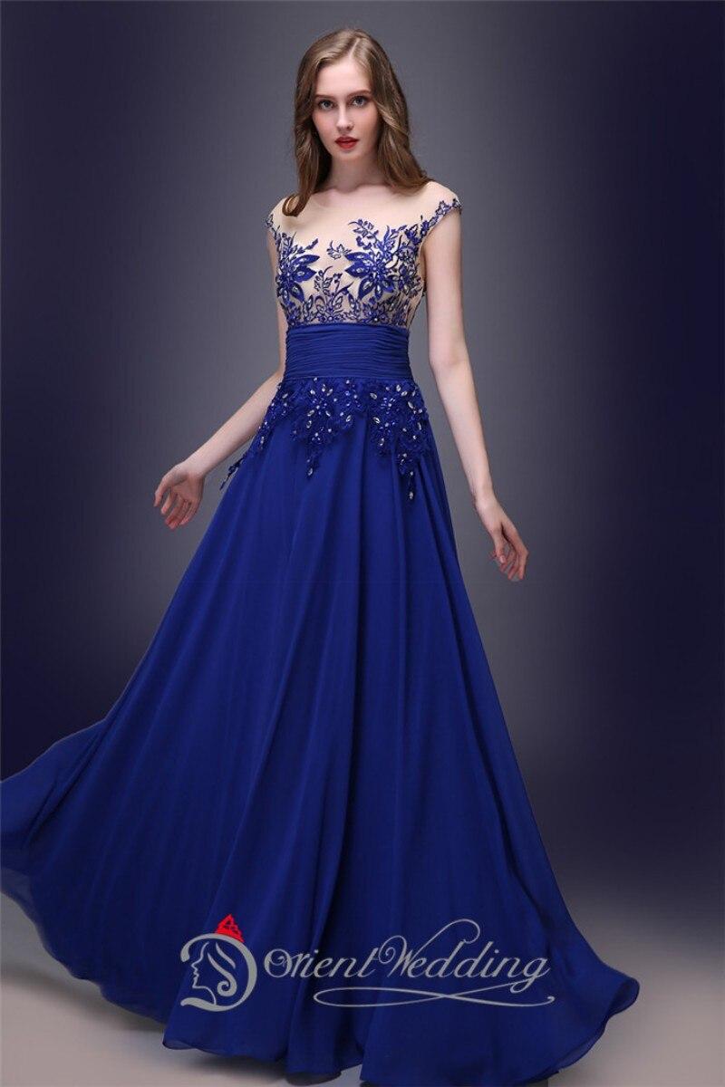 Instock Prom vestidos baratos azul real De la gasa sin mangas vestido De  Festa apliques vestido De noche largo 2015 en Vestidos de noche de Bodas y  eventos ... c70a8595a1d3
