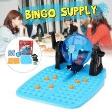 Лото «бинго» игровой набор роторная клетка машина семейная доска веселье 90 шариков 48 карт семья вечерние образовательная игра игрушка