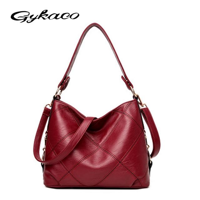 Gykaeo Brand Las Hobos Handbag 2017 New Winter Mother Tote Bags Leather Fashion Designer Handbags High