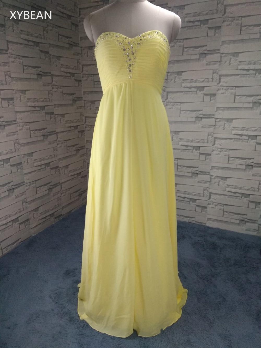 Cheap Price ! Sweetheart Beading Floor Lenght Chiffon Evening Dresses(China)