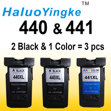 3 Pack Remanufactured Ink Cartridges For Canon PG-440 XL PG-440XL PG 440 PG440 CL-441XL CL441 Pixma MG2180 MG3180 MG4180 MG4280
