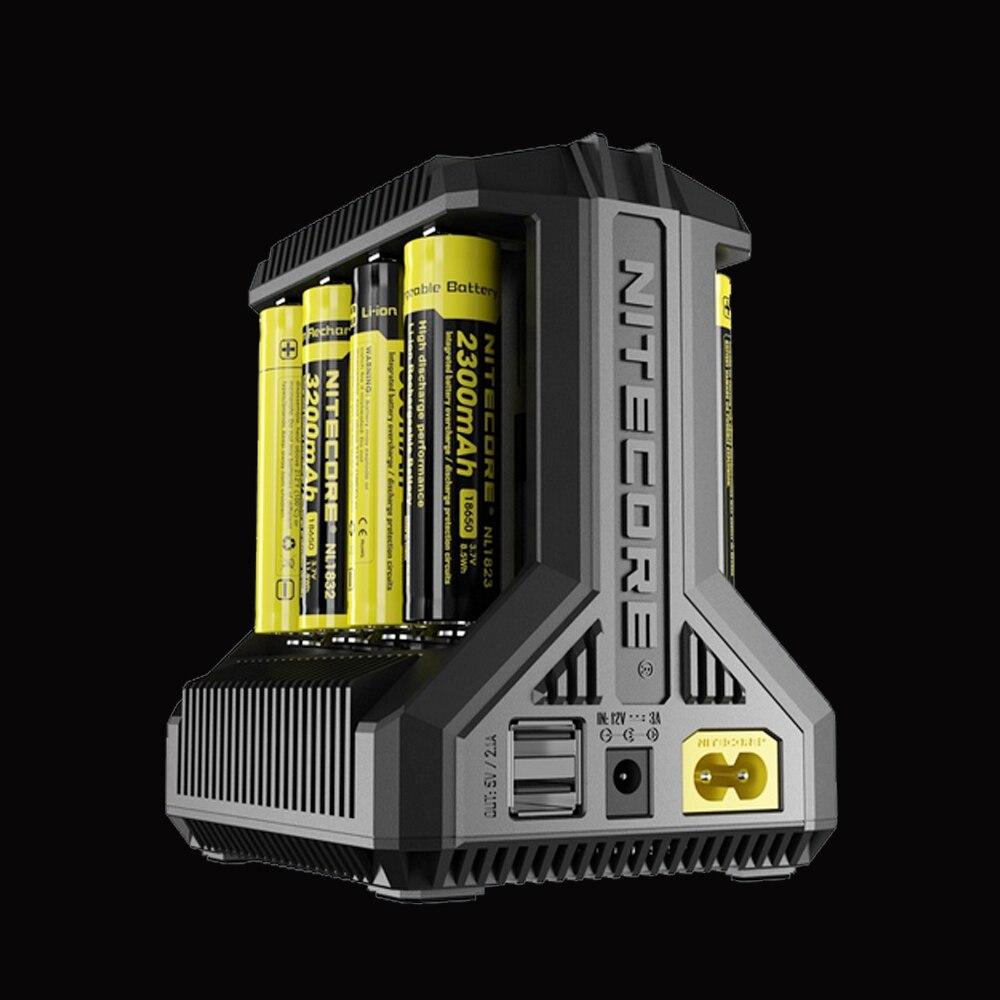 NITECORE Intellicharge I8 Batterie Chargeur 8 slots, Automatiquement Détecte/Moniteurs et Charges Chaque Fente Indépendamment