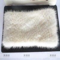 Reale del visone sciarpe femminile colli di pelliccia di visone sciarpe di inverno caldo collare