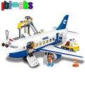Iblocks super gran aeropuerto de la ciudad de tamaño grande bloques de construcción modelo de avión airbus estilo enlighten duplo ladrillos niños juguetes educativos