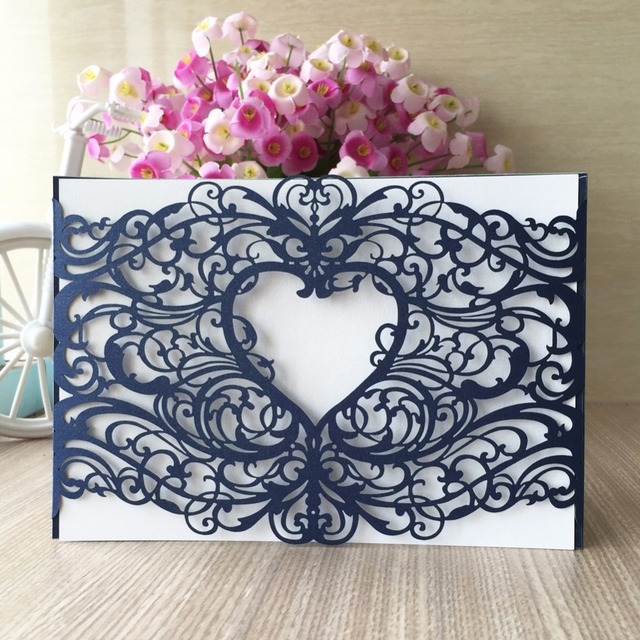 US $35 99 |Free Shipping 25pcs Greeting Cards Romantic Happy Wedding  Birthday Invitation Card Valentines Day Laser Cut Card-in Cards &  Invitations