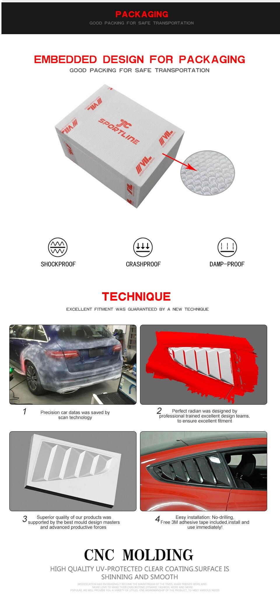 Carbon Faser 2 SET Auto Auto Seite Fenster Air intake Schneidet Air