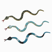 YOOAP 12pcs Simulation reptile model cobra pvc soft rubber snake tidy scary toy mini