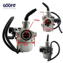 GOOFIT PZ19 19mm Carburetor Carb 50cc 70cc 90cc 110cc 125cc ATV Dirt Bike Go Kart  Choke Taotao carburettor Motorcycle Motocross
