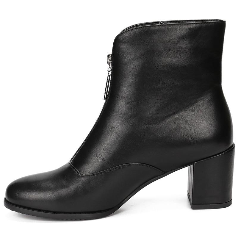 Grande Pour Taille Noir Zip Livraison Talons Bottines Karinluna De Épais Up 43 Chaussures 36 Directe Femme Bottes DEH92I
