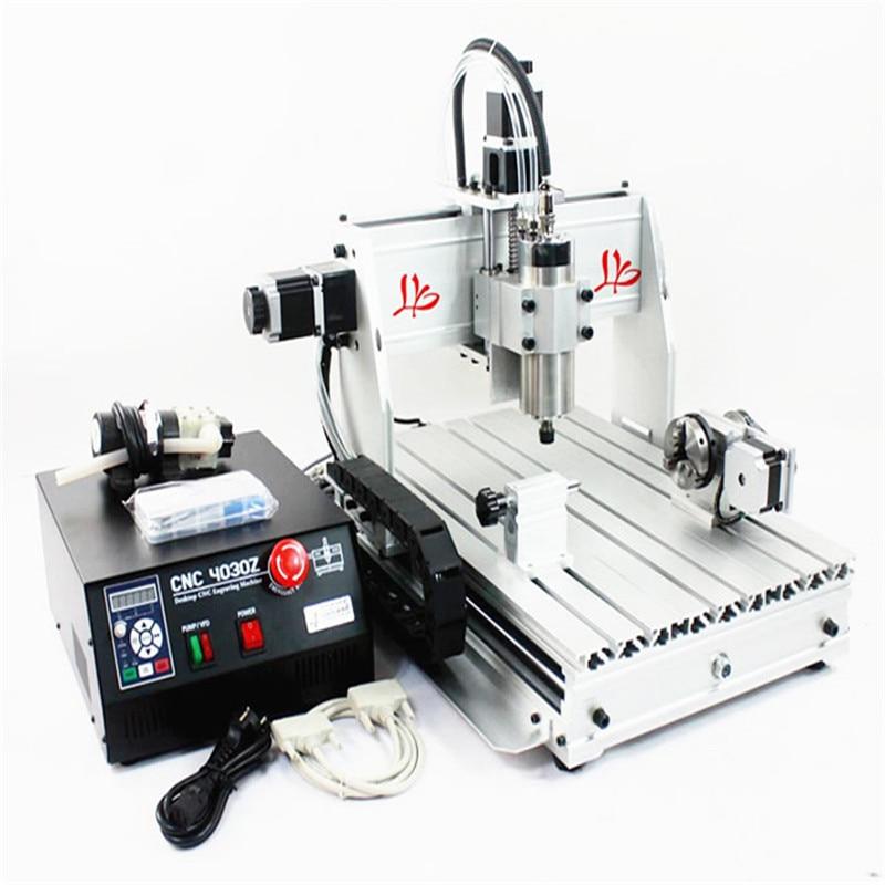 4 axis CNC Router 3040 Z-S Engraving machine 800W wood milling machine 110v 220v 4 axis 800w usb cnc 3040 water tank cnc router cnc machine milling machine