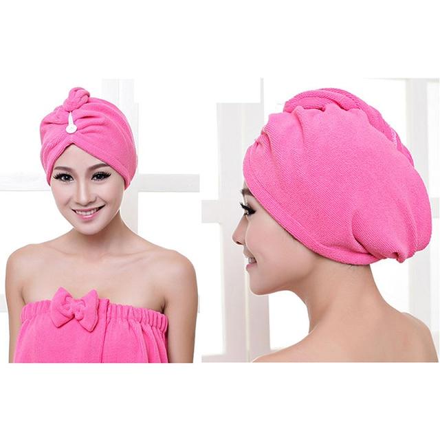 lady turban mikrofaser stoff verdickung trockenes haar handtuch