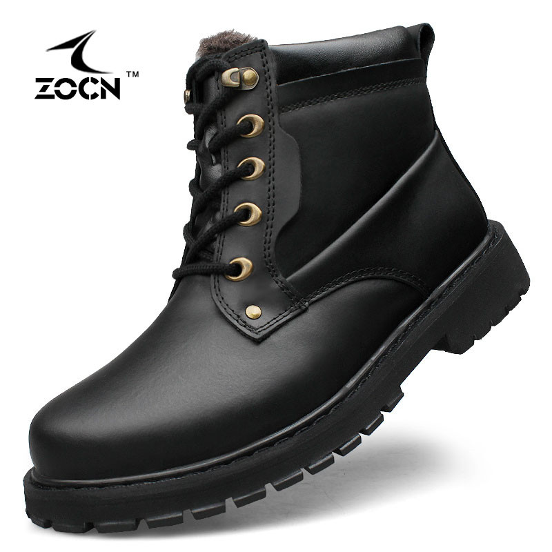 ФОТО ZOCN Unisex Military Boots Women With Fur Warm Military Boots High Quality Fashion 2016 Winter Ankle Boots Zapatos Hombre 37-52