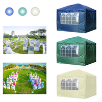 3x3M Three Color Folding Gazebo Canopy Awning Tent Camping Party Beach Garden Outdoor Event waterproof Oxford with 4 Side Walls