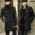 Primavera casaco de lã Slim colarinho de lã casaco de Cashmere / S-XXXL