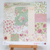 12inch 24sheetspack colorful bronte charm theme Gift Wrapping Book kit Scrapbooking Paper DIY card making home deco Craft Art