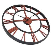 High Quality 45cm 50cm Large Wall Clock Metal Industrial Iron Gear Retro Clock Watch 3D Clocks Relogio Horloge murale