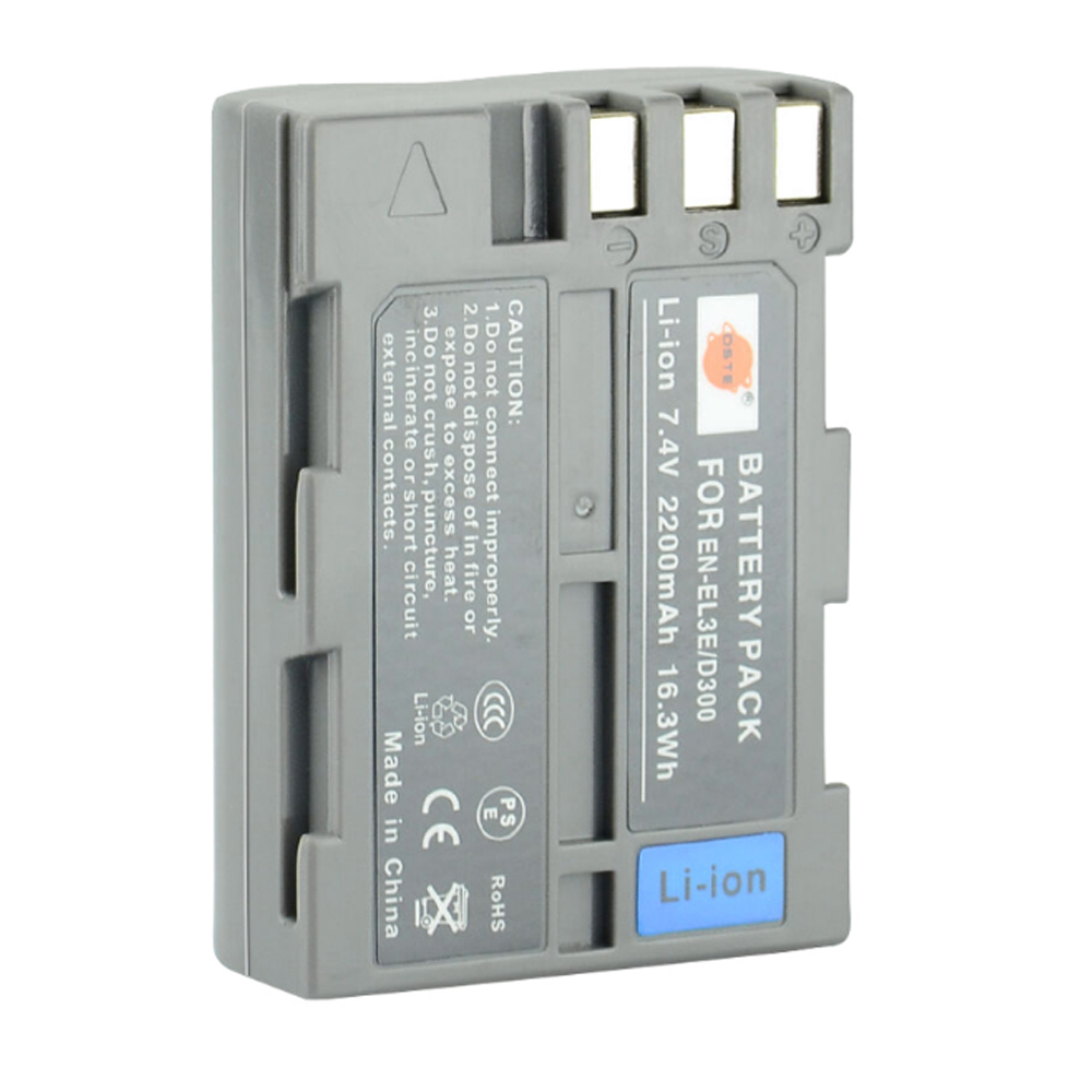 DSTE EN-EL3E en-el3e Batteria Ricaricabile Li-Ion per Nikon D70 D70S D80 D90 D100 D200 D300 D300S D700 Camera