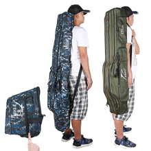 90cm/110cm/120cm/130cm/Portable Fishing Bags Folding Rod Case Gear Tackle Bag Carrier Canvas Pole Storage
