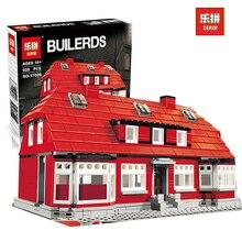 Lepin 17006 928Pcs Creator Serier The Red House Set Education Building Kits Blocks Bricks Model Children Toys Gift