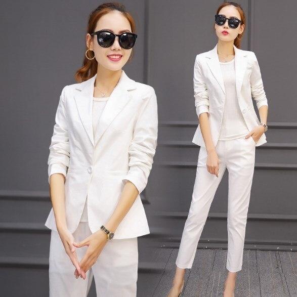Pantalone Uniformi Lavoro Donne Elegante Tailleur Ufficio Disegni