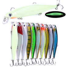 цена HENGJIA Minnow Fishing Lure Artificial Hard Bait 11cm 13g Crankbait Diving Sinking Wobblers Peche Bass онлайн в 2017 году