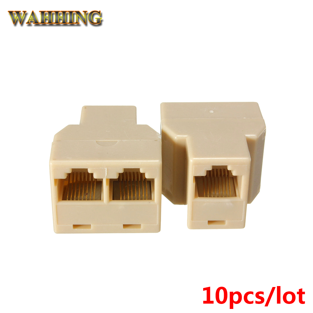 10pcs Two Way RJ45 Splitter Connector CAT5 CAT6 LAN Ethernet Splitter Adapter RJ45 Network modular plug for PC laptop HY205 rj45 connector cat5 cat6 lan ethernet splitter adapter 8p8c network modular plug for pc laptop 10pcs aqjg