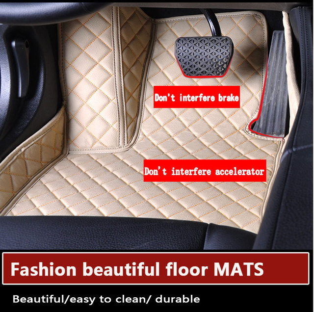 Car mats Auto floor mats PU Leather Non-slip foot carpet Custom perfect fit car mats for Toyota Camry all types models universal