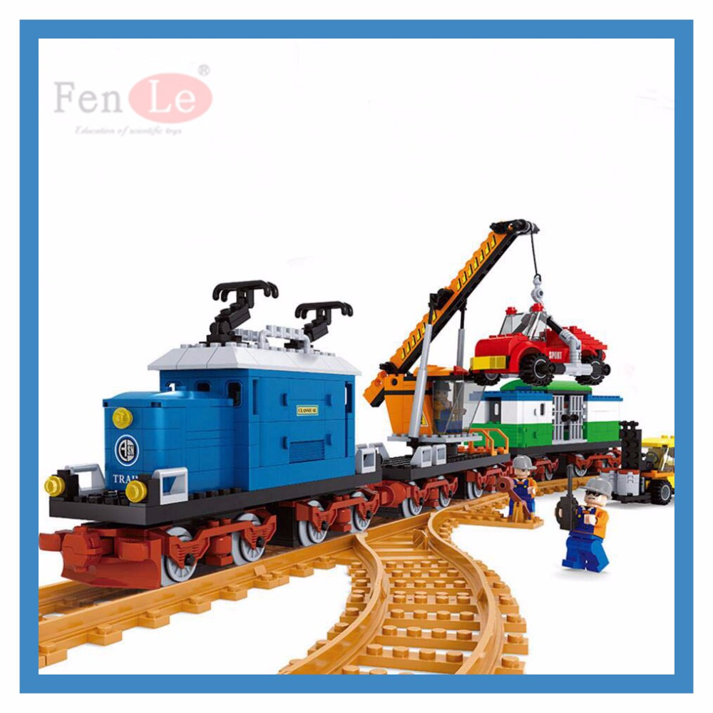 Ausini model building kits compatible with technic train 3D blocks Educational model building toys hobbies for