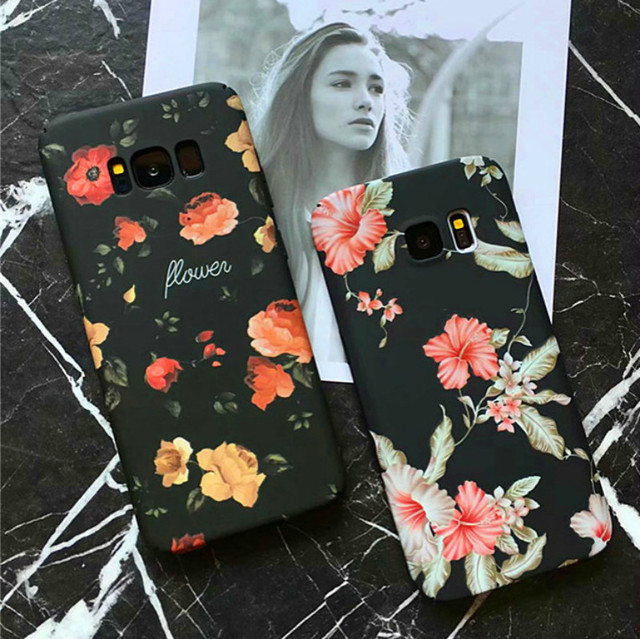 Retro Flower Mountain Landscape Starry Moon Phone Cases For Samsung Galaxy S9...