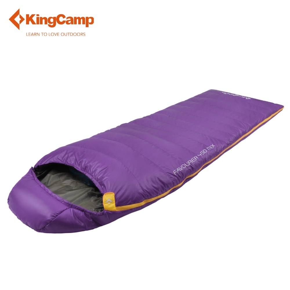 KingCamp Favourer 450MIX Envelope  32 Degree F / 0 Degree C Down spliced  Micro-Fiber Sleeping Bag  with  hood for Camping,
