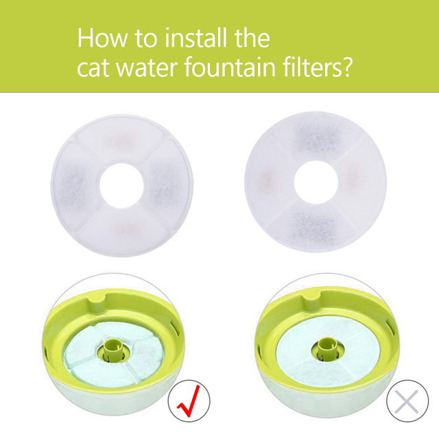 1/6/8/12pcs Cat Dog Water Fountain Filters Replacement Activated Carbon Filter For Pet Automatic Drinking Fountain Dish Filter 4