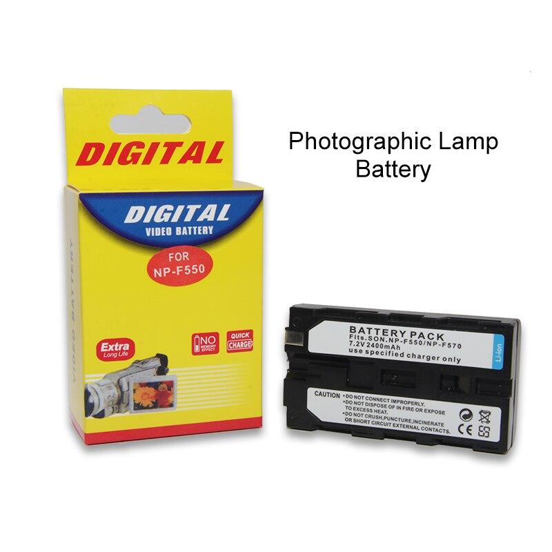 2400 mAh NP-F550 NP-F570 Recarregável de iões de Lítio Bateria Para NP F550 570 LED Vídeo Luz Lâmpada Bateria Lâmpada Fotográfica Bateria
