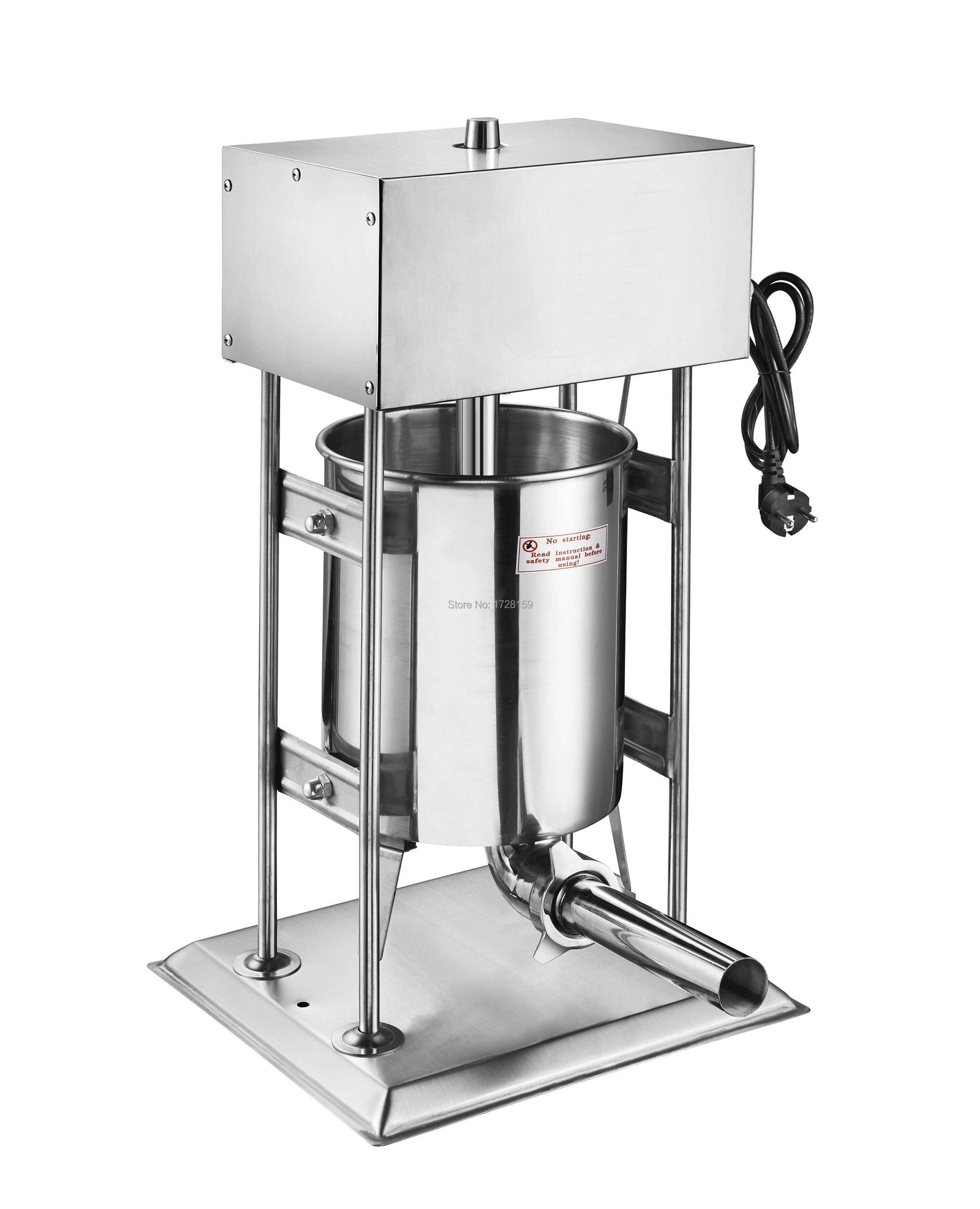 12L Automatic Vertical Stainless Steel Commercial Electric Sausage Stuffer Filller Machine new automatic stainless steel commercial vegetable