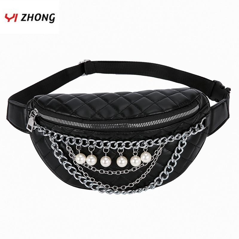 YIZHONG Fashion Leather Fanny Packs Travel Large Capacity Waist Bag Chest Bag For Women Unisex Belt Bag For Outdoor Sports