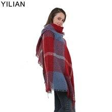 YILIAN Brand Plaid Line Pattern Women Headscarf 2019 New Basic Fashion Autumn And Winter Section Scarf Shawl Pashmina