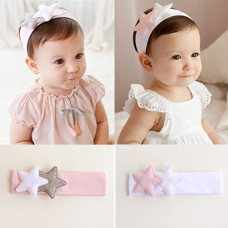 Soft Toddler Headband Kids Baby Girls Star Pattern Headband Newborn Infant Headdress Hair Band Hair Accessories Photo Props