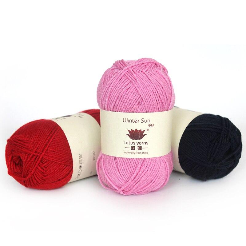 10*50g ball 100% extrafine laine mérinos fil à tricoter à la main fil de laine au crochet prix de gros livraison gratuite-in Fil from Maison & Animalerie    1