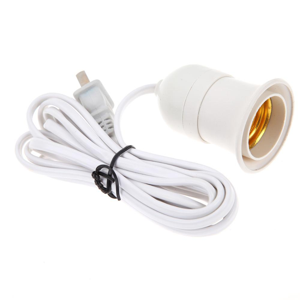 E27 Lamp Bases With 2.3M Power Cord Independent Push Button Switch US Plug E27 Screw Interface Lamp Holder 90-240V