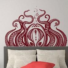 90x57cm Octopus Tentacles Wall Decal Vinyl Stickers Sprut Sea Animal Home Interior Design Art Murals Bedroom Bathroom Decor 3588